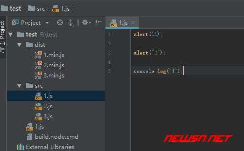 webstrom如何配置uglifyjs压缩js - 340