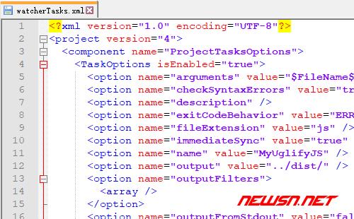 webstrom如何配置uglifyjs压缩js - 341