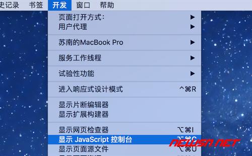 safari浏览器如何开启开发者模式 - 003_激活菜单