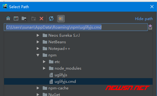 webstrom如何配置uglifyjs压缩js - 005