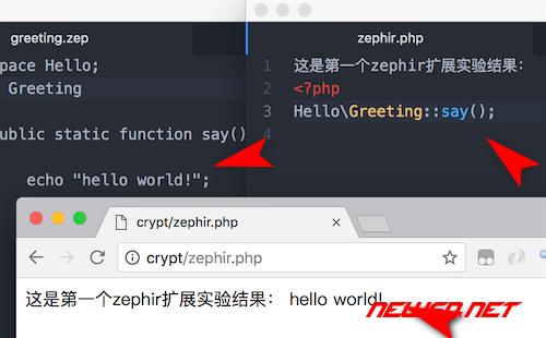 zephir如何编写第一个helloworld入门范例? - 033