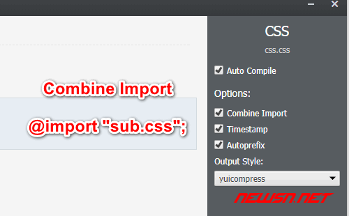 如何利用koala合并css文件 - css_import