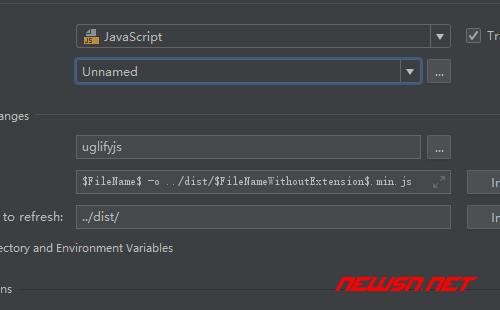 webstrom如何配置uglifyjs压缩js - 339