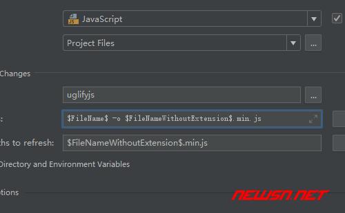 webstrom如何配置uglifyjs压缩js - 002