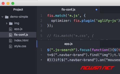 fis3配置之使用uglifyjs处理js文件 - fis3-config-js-optimizer2