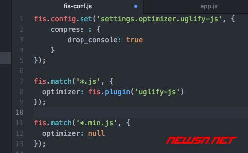fis3配置之使用uglifyjs处理js文件 - fis3-config-min-js3