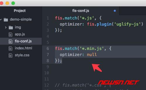 fis3配置之使用uglifyjs处理js文件 - fis3-config-min-js