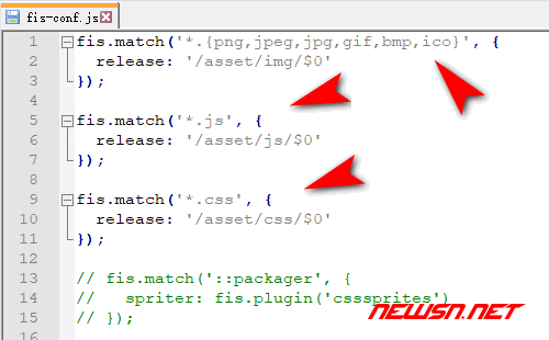 fis3配置文件之整理转移资源部署路径 - fis-config1