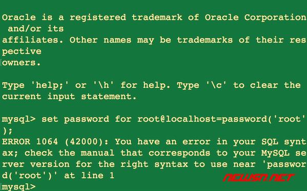 如何修改mysql8.0的root密码? - mysql-password-error