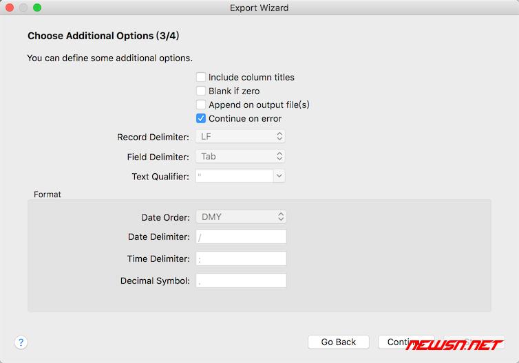 如何使用navicat导出数据集合为xls文件 - navicat_xls_014
