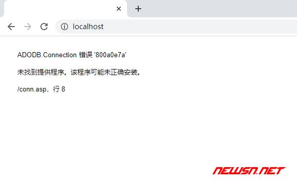 asp连接access数据库,ADODB.Connection 错误 '800a0e7a' - access