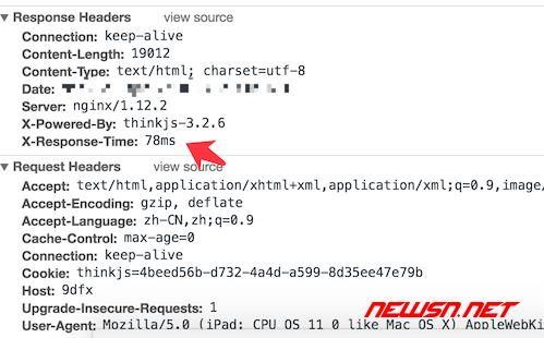 以cmswing为例,如何定制thinkjs的log日志 - response_header