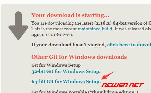 window环境,如何安装git客户端 - git_download