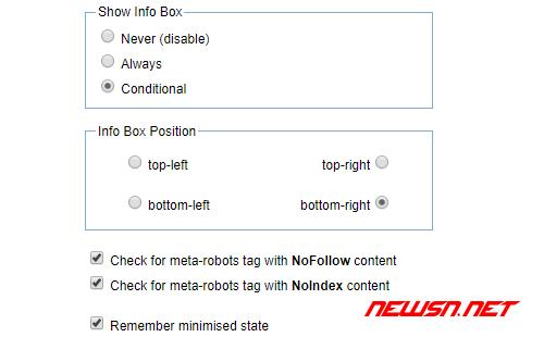苏南大叔:nofollow对seo有何影响?如何安装chrome的nofollow插件? - option_meta_robots