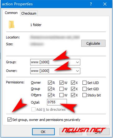如何快速更改远程文件属主及权限 - chown