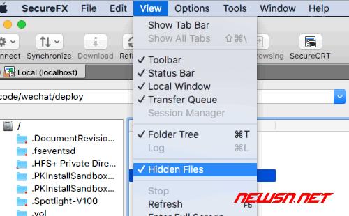 SecureFX如何显示隐藏文件 - 001