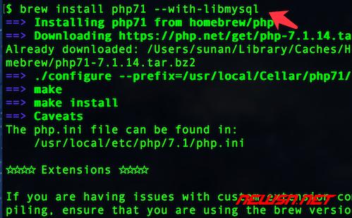 mac系统,如何通过brew降级php72到php71 - brew_php71_libmysql