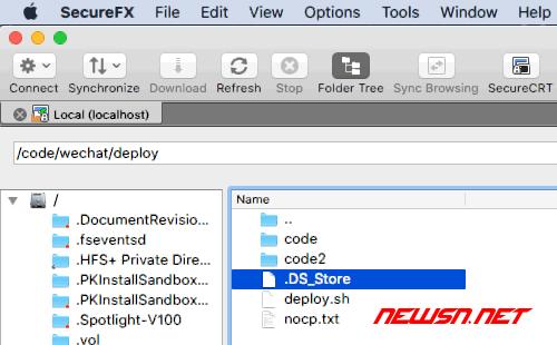 SecureFX如何显示隐藏文件 - 002