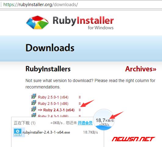 win系统安装ruby,为webstrom编译scss做准备 - ruby_win