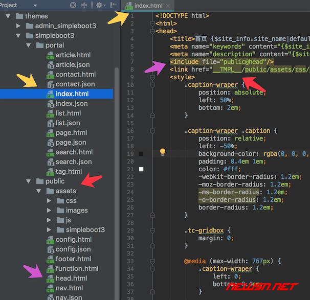 thinkcmf如何理解皮肤模板页面对应关系 - theme_folder2