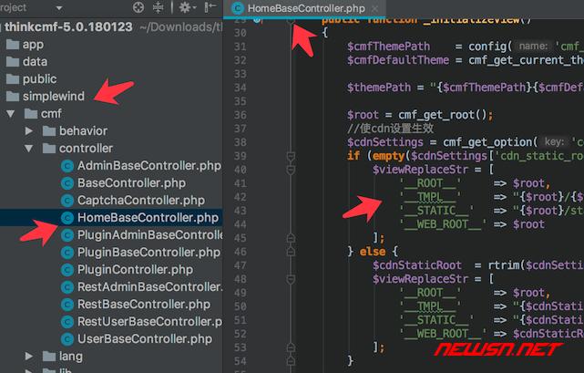thinkcmf如何理解皮肤模板页面对应关系 - theme_const