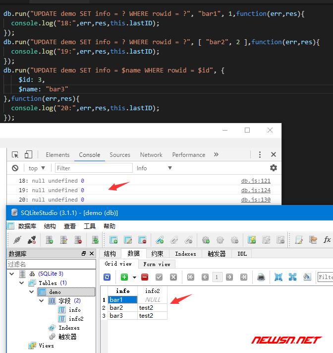 electron与sqlite,增删改查之update - sqlite_insert_13