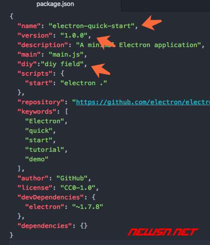 electron如何读取软件package.json中的名称及版本号 - 007