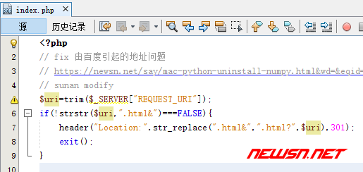 typecho 不能正常接收百度引流的解决方案 - code