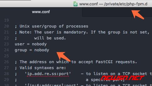 mac系统,php-fpm如何加入开机启动项 - nobody