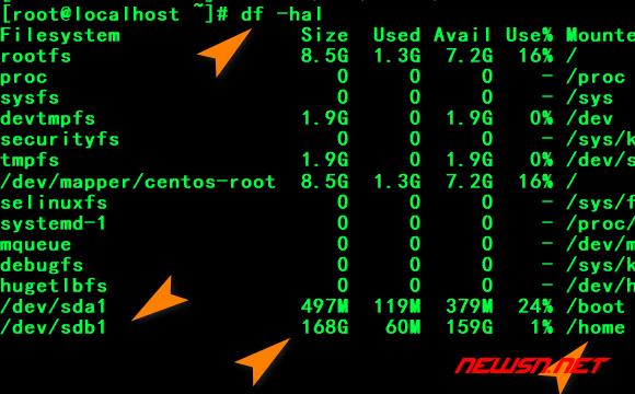 centos系统如何挂载新硬盘 - 006