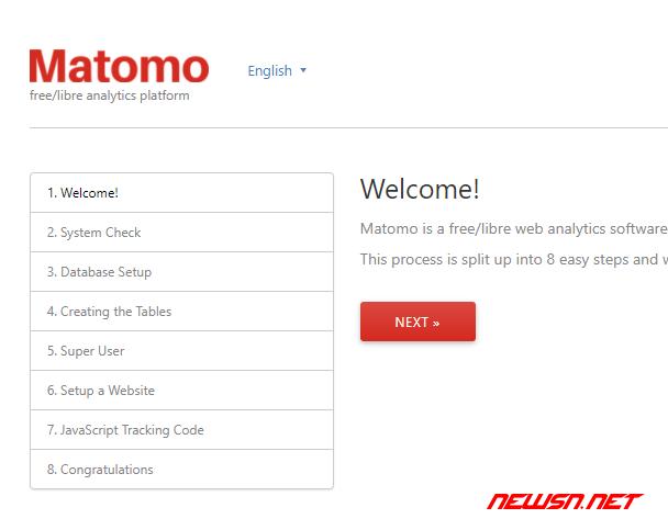 piwik更名为matomo,matomo安装记录 - 002