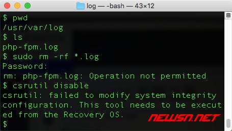 mac系统,由rootless引发的php-fpm不工作的问题 - 002