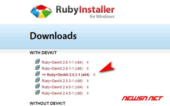 win 系统,如何安装 ruby 环境? - ruby_win