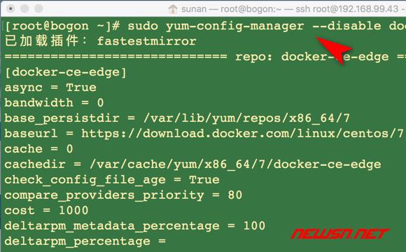 苏南大叔:centos服务器,如何通过yum安装最新稳定版docker - 03_禁用可能的不稳定版仓库