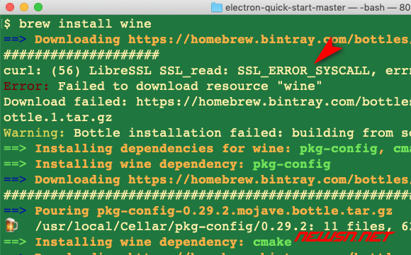 苏南大叔:Wine cannot currently be installed from source on macOS - wine-006