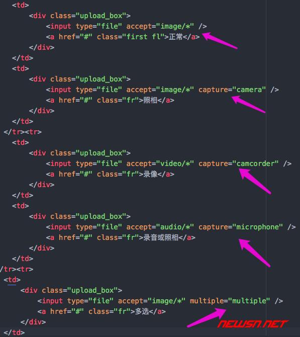 手机浏览器上,上传按钮的几种变化 - input_file