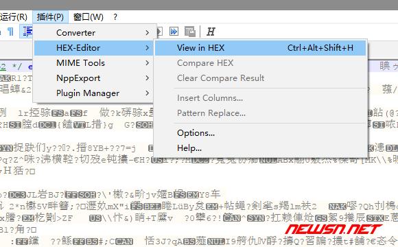 notepad++安装插件hexeditor - view_in_hex