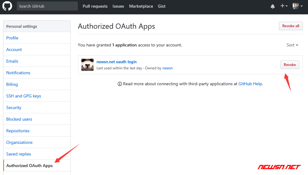 github的oauth登陆之使用调试篇 - remove_oauth
