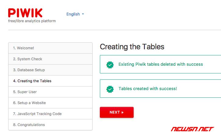 独立统计平台piwik安装记录 - piwik_install_05