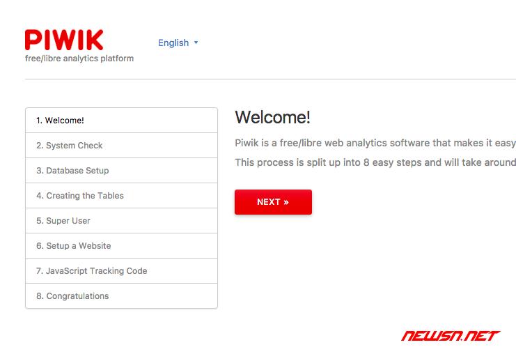 独立统计平台piwik安装记录 - piwik_install_01