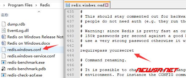 给redis增加密码锁 - redis_pass_win