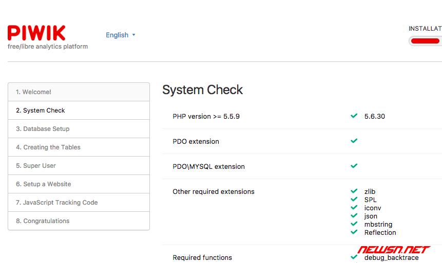 独立统计平台piwik安装记录 - piwik_install_02