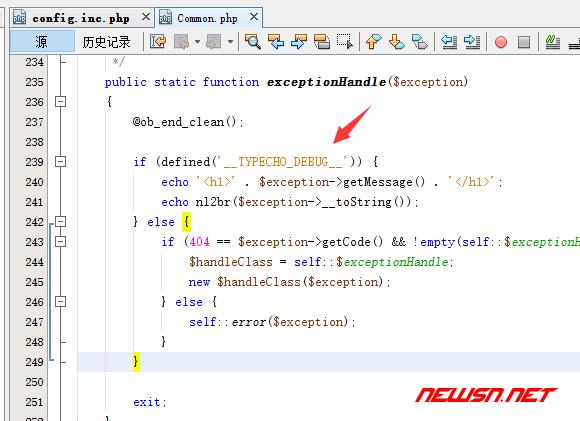 typecho开启debug模式调试404页面 - typecho-debug-enable-false-final