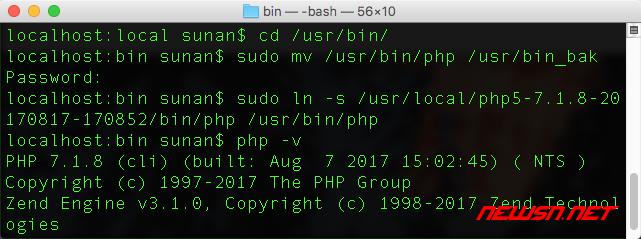 mac系统切换php,设置命令行里面的php - 002_mac_php