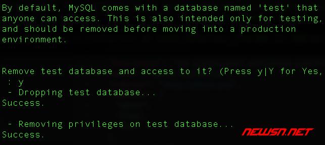 mysql安全设置命令mysql_secure_installation使用指南 - 005