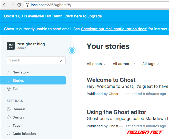 ghost博客如何设置后台管理员密码? - 015
