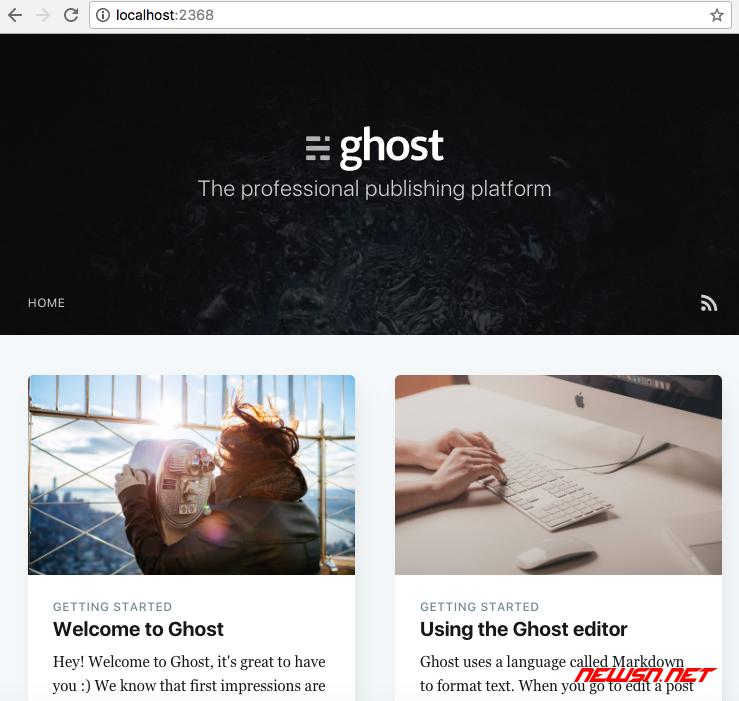 ghost博客如何通过源码初始化安装? - 222