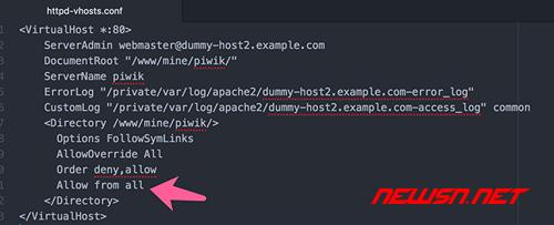 apache如何配置基于php的vhost网站 - 004