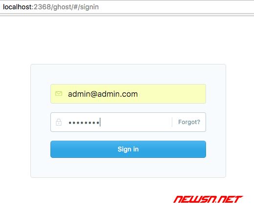 ghost博客如何设置后台管理员密码? - admin