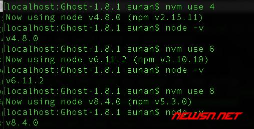 切换node版本的nvm工具的基本使用 - 005